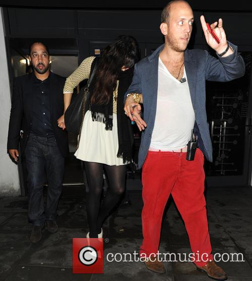 Robin Thicke And Paula Patton At Boujis