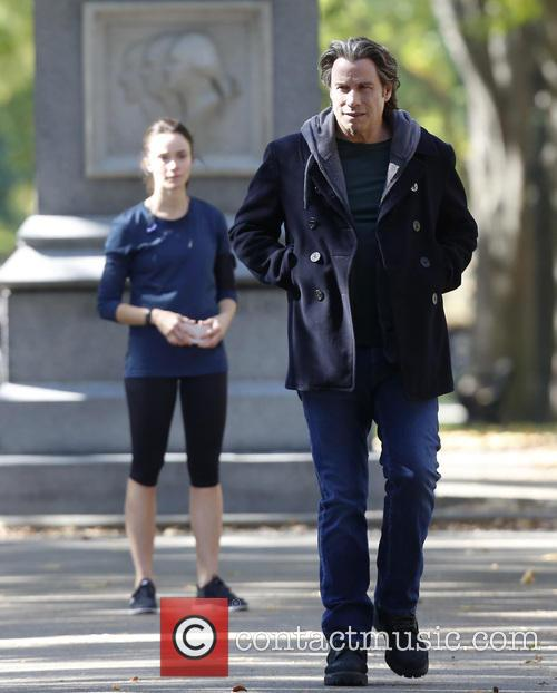John Travolta and Abigail Spencer 1