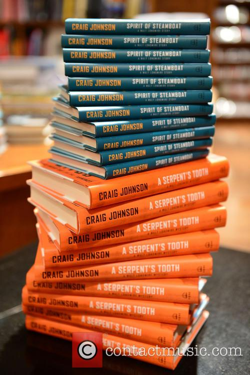 View Of Book On Display During Author Craig Johnson 3