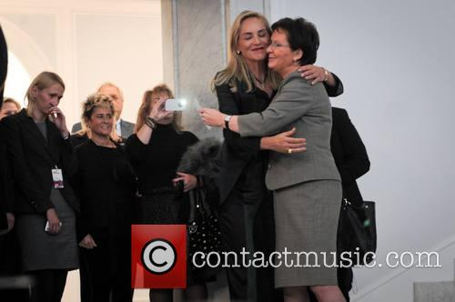 Ewa Kopacz and Sharon Stone 6