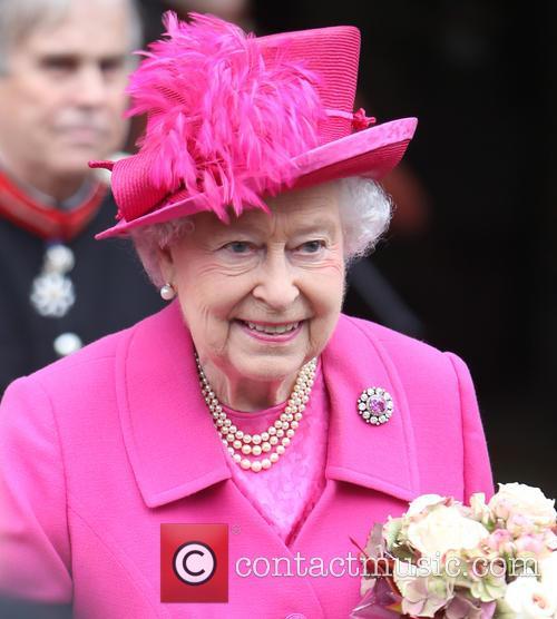 Queen Elizabeth II Wearing Pink