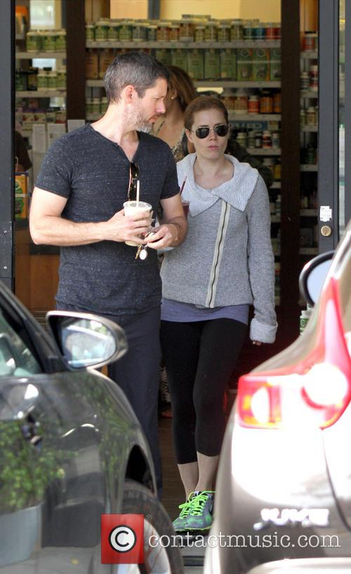 Amy Adams With Fiance Darren Le Gallo