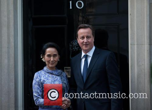 Aung San Suu Kyi and David Cameron 2