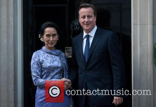 Aung San Suu Kyi and David Cameron 1