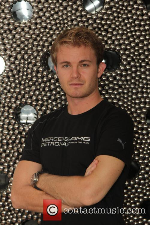 Nico Rosberg at a media event in Dehli