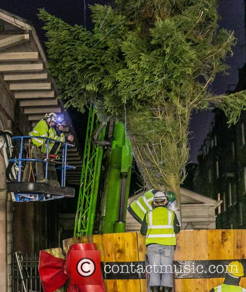 Finishing touches applied to Covent Garden Christmas decorations