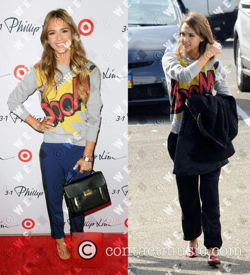 Jessica Alba wears the same Phillip Lim French...