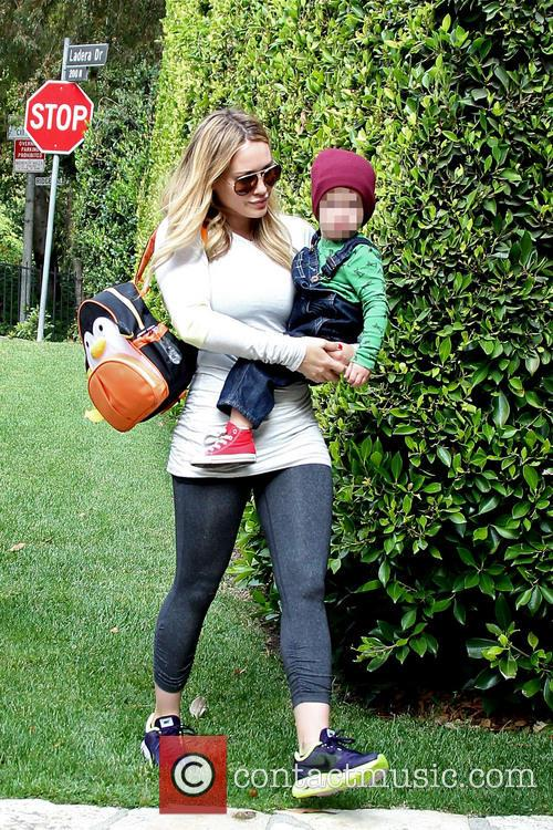 Hilary Duff and Luca 1
