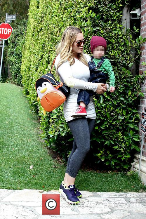 Hilary Duff and Luca 9
