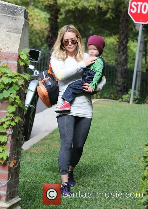 Hilary Duff and Luca 3