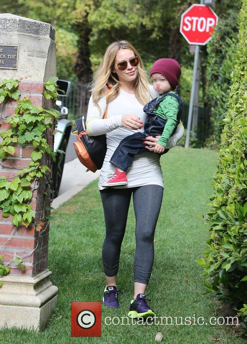 Hilary Duff and Luca 4