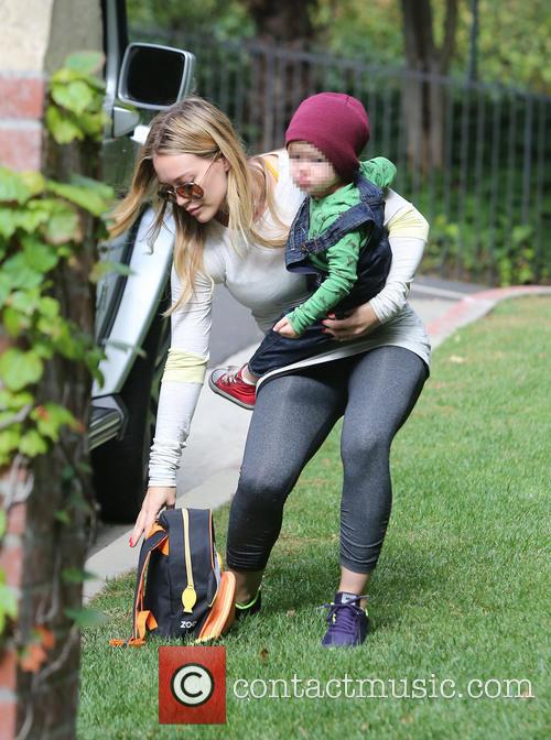 Hilary Duff and Luca 5