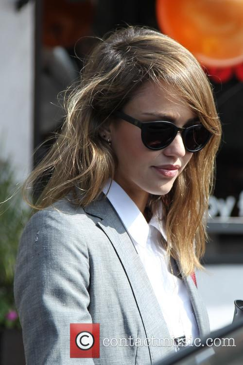 Jessica Alba shopping at Bel Bambini on robertson...