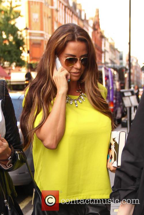 Katie Price out in London on the day her new book 'Love Lipstick and Lives' is released