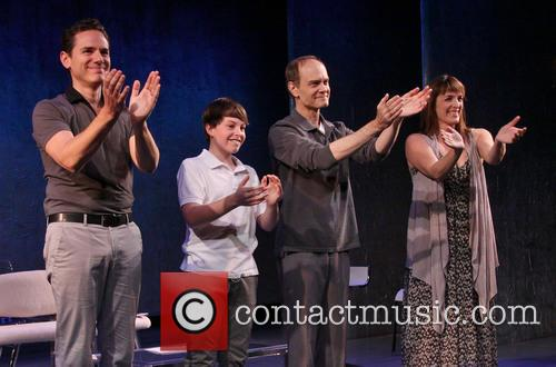 Paul Anthony Stewart, Frankie Seratch, David Hyde Pierce and Julia Murney 2