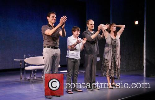 Paul Anthony Stewart, Frankie Seratch, David Hyde Pierce and Julia Murney 1
