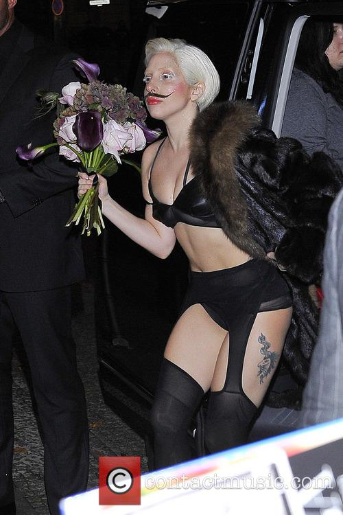 Lady Gaga arrives at her Berlin hotel