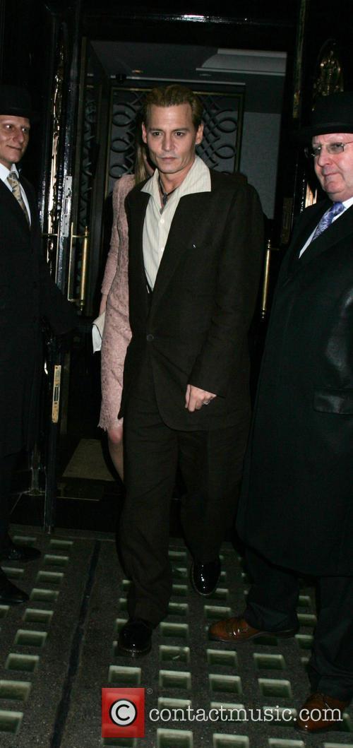 johnny depp celebrities leaving scotts restaurant 3922235