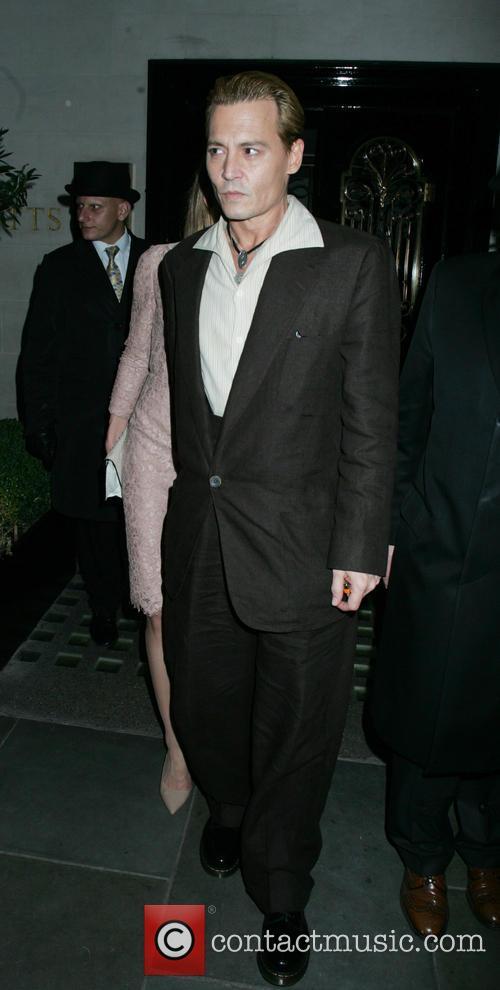 johnny depp celebrities leaving scotts restaurant 3922243