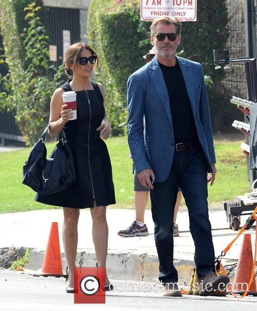 Salma Hayek and Pierce Brosnan 5