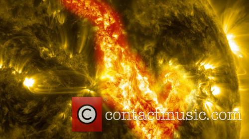 Solar Filament Eruption creates a 'Canyon of Fire'
