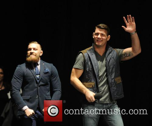 Uk Fighter Michael Bisping and Irish Fighter Conor Mcgregor 3