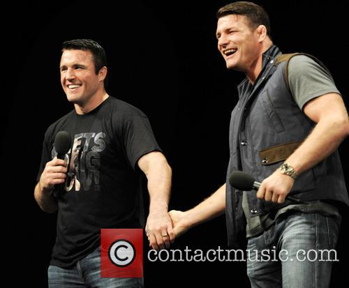 Us Fighter Chael Sonnen and Uk Fighter Michael Bisping 6