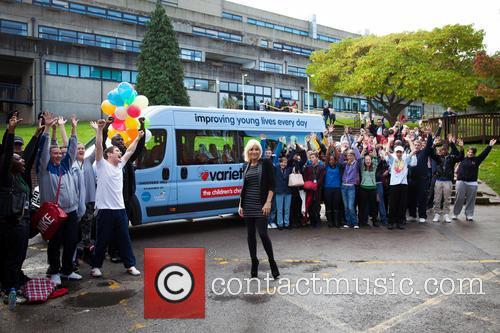 Actress Michelle Collins presents a Sunshine Coach