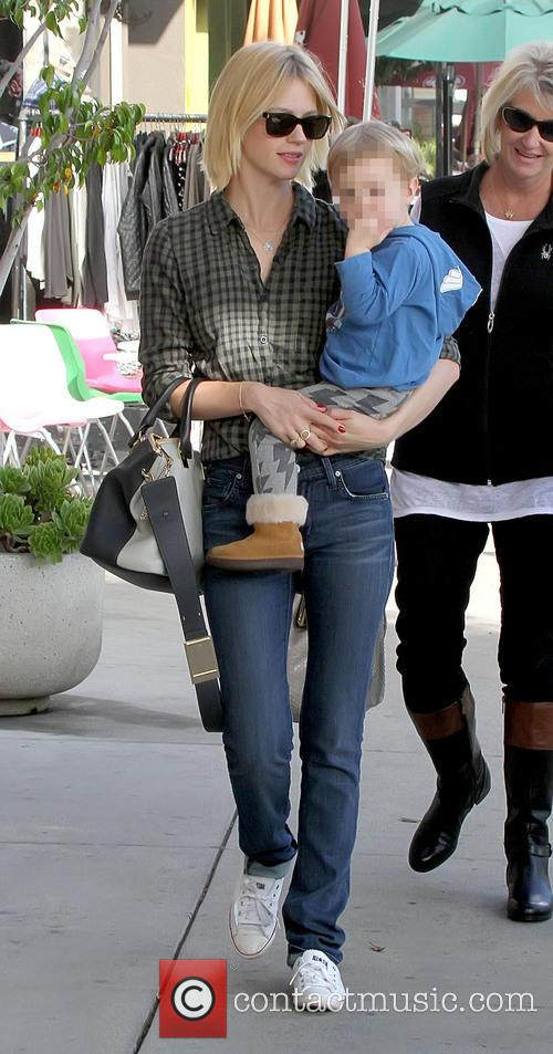 January Jones and Xander Dane Jones 1