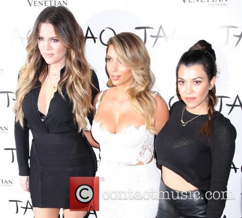 Khloe Kardashian Odom, Kim Kardashian and Kourtney Kardashian 3