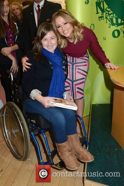 Kimberley Walsh and Fan 5