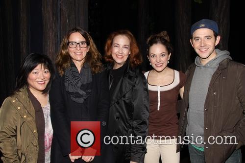 Tina Fey visits the cast of Broadway's Cinderella