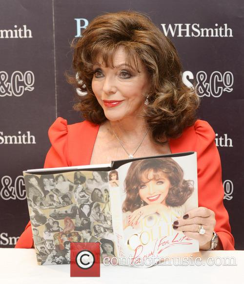 Joan Collins book signing