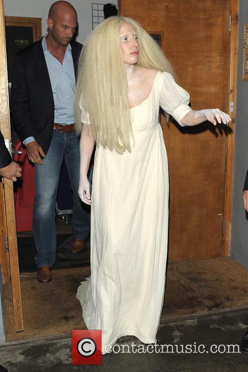 Lady Gaga leaving a studio