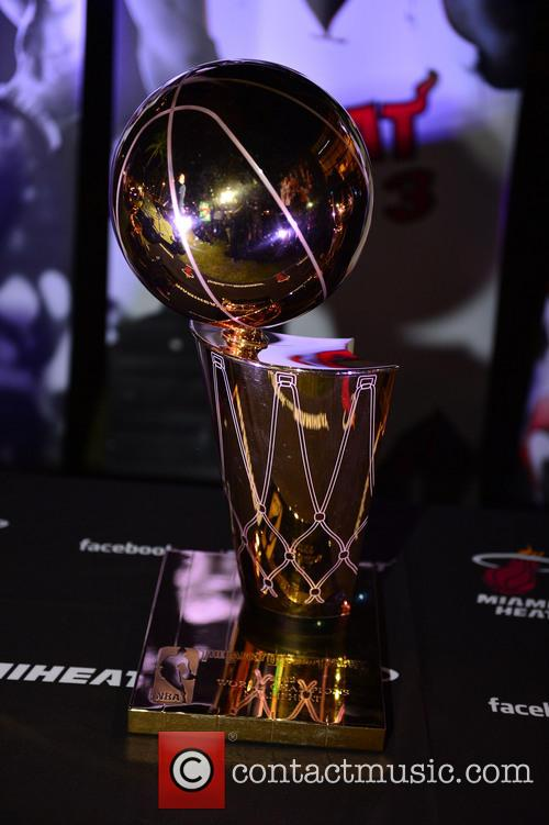 View Of The Nba Miami Heat(2006 and 2013) Winning Trophy 3