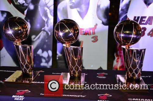 Miami Heat Movie Premiere and statue display