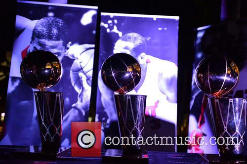 View Of The Nba Miami Heat(2006 and 2013) Winning Trophy 6