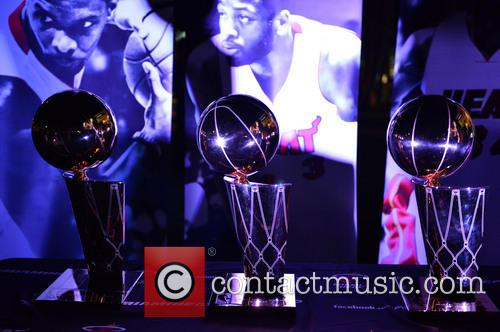 View Of The Nba Miami Heat(2006 and 2013) Winning Trophy 8