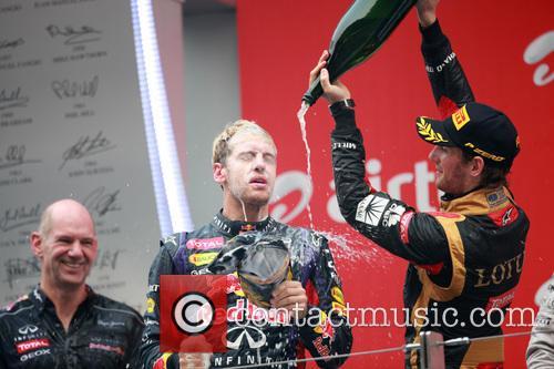 Formula One, Sebastian Vettel and Romain Grosjean 1