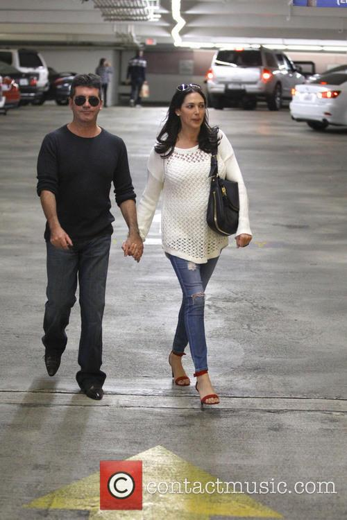 simon cowell lauren silverman simon cowell with pregnant 3925910