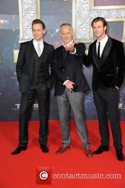 Tom Hiddleston, Alan Taylor and Chris Hemsworth 4