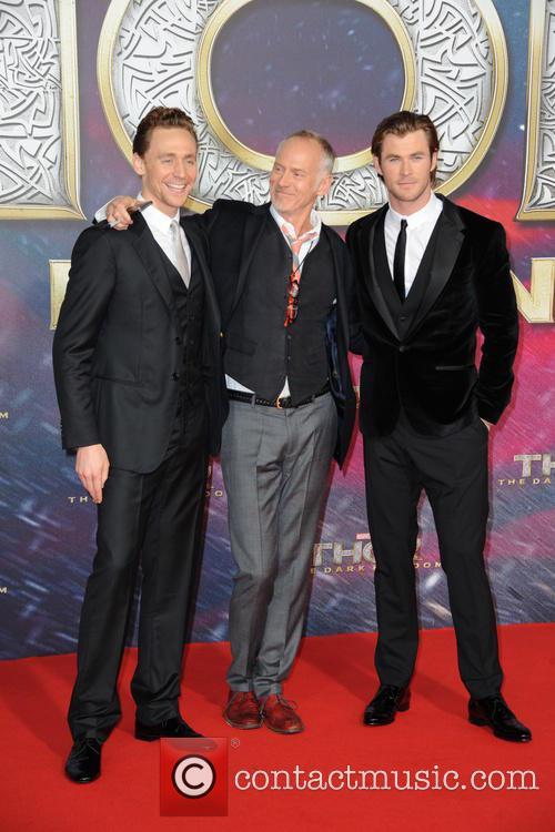 Tom Hiddleston, Alan Taylor and Chris Hemsworth 6