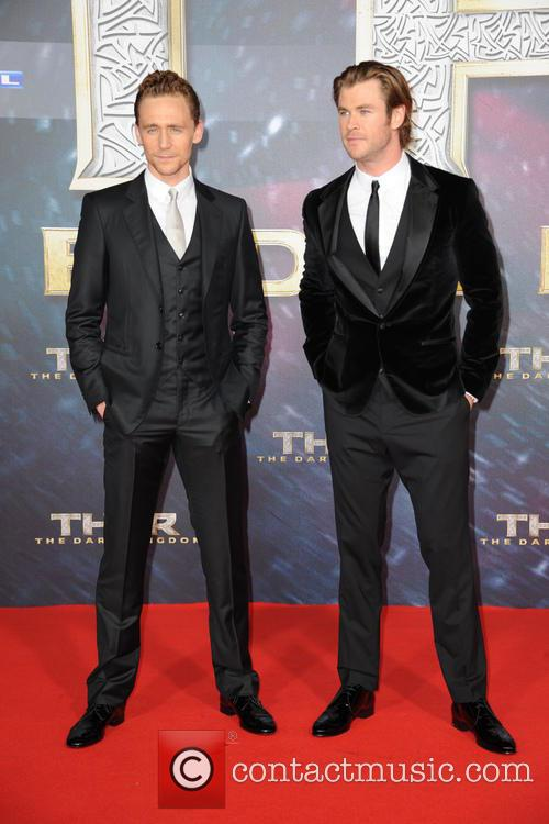 Tom Hiddleston and Chris Hemsworth 10