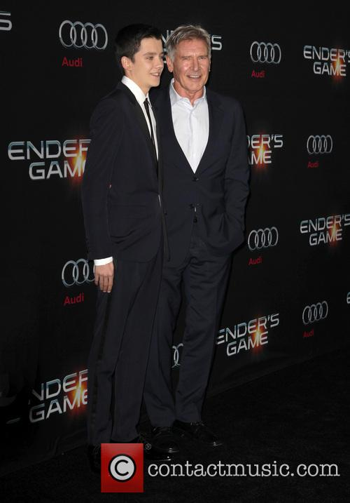 Asa Butterfield, Harrison Ford, TCL Chinese Theatre