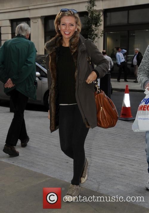 Rachel Riley arriving at the BBC Radio 1...