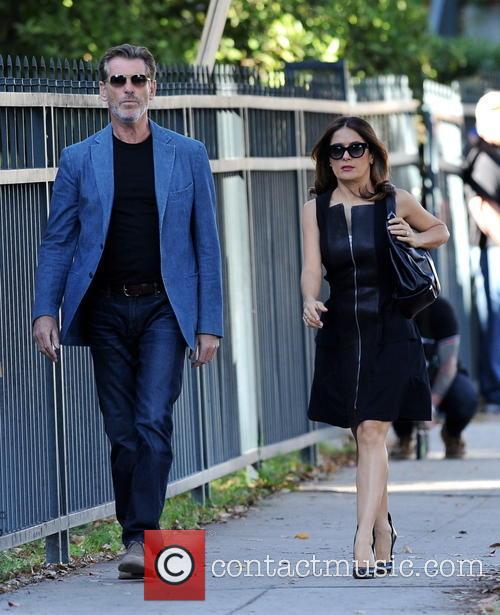 Salma Hayek and Pierce Brosnan 3