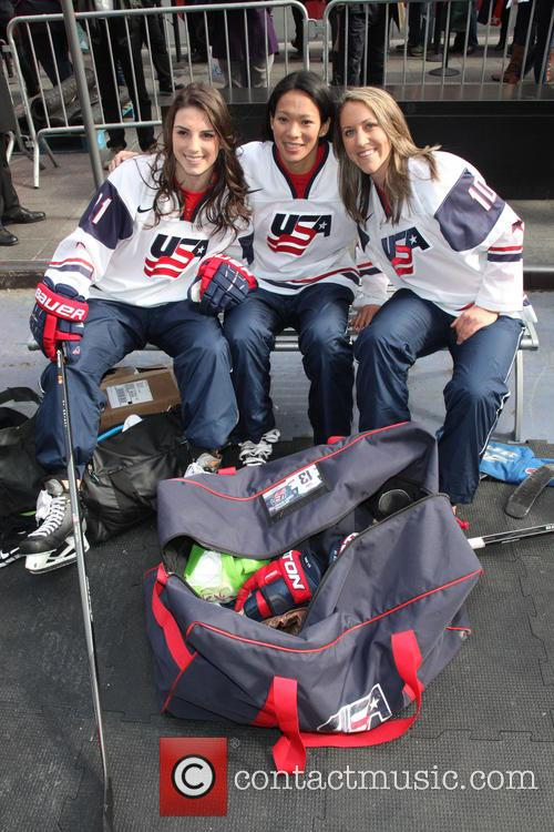 Hockey, Hilary Knight, Julie Chu, Meghan Duggan and Celebration 2