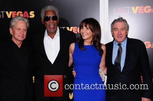 Mary Steenburgen, Morgan Freeman, Robert De Niro and Michael Douglas 1