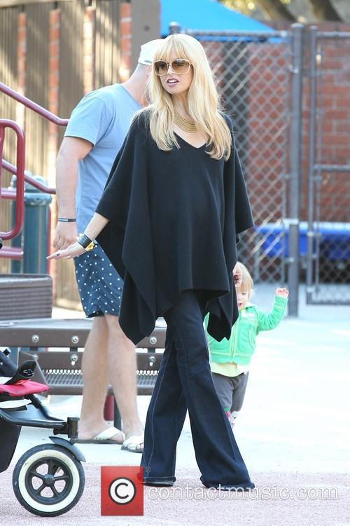 Rachel Zoe and her family at Coldwater Canyon Park