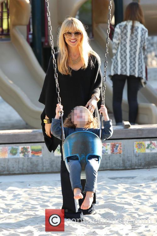 Rachel Zoe and her family at Coldwater Canyon...